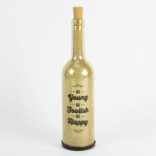 Be Young Light Up Glitter Bottle
